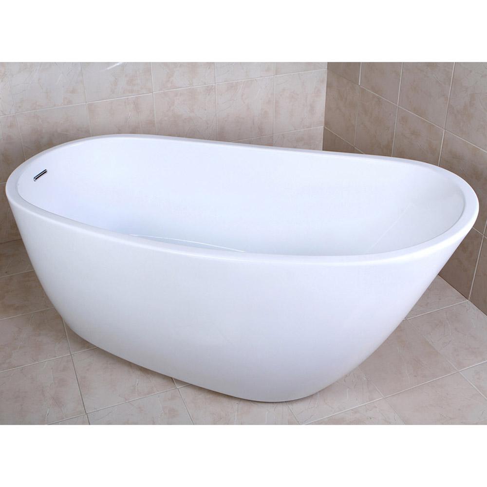 Modern white kono freestanding single slipper bathtub for Non standard bathtubs