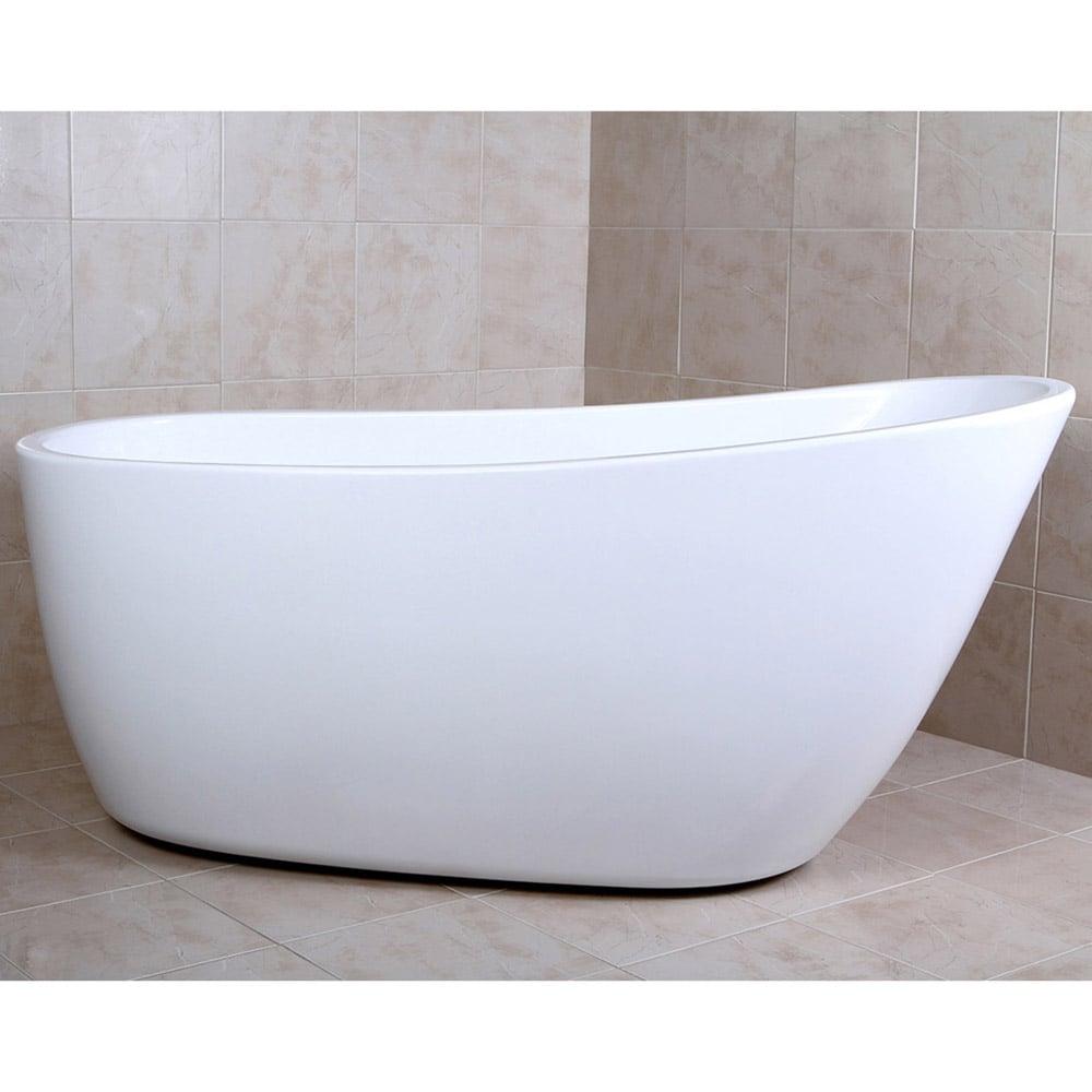Modern White Kono Freestanding Single Slipper Bathtub | Zuri Furniture