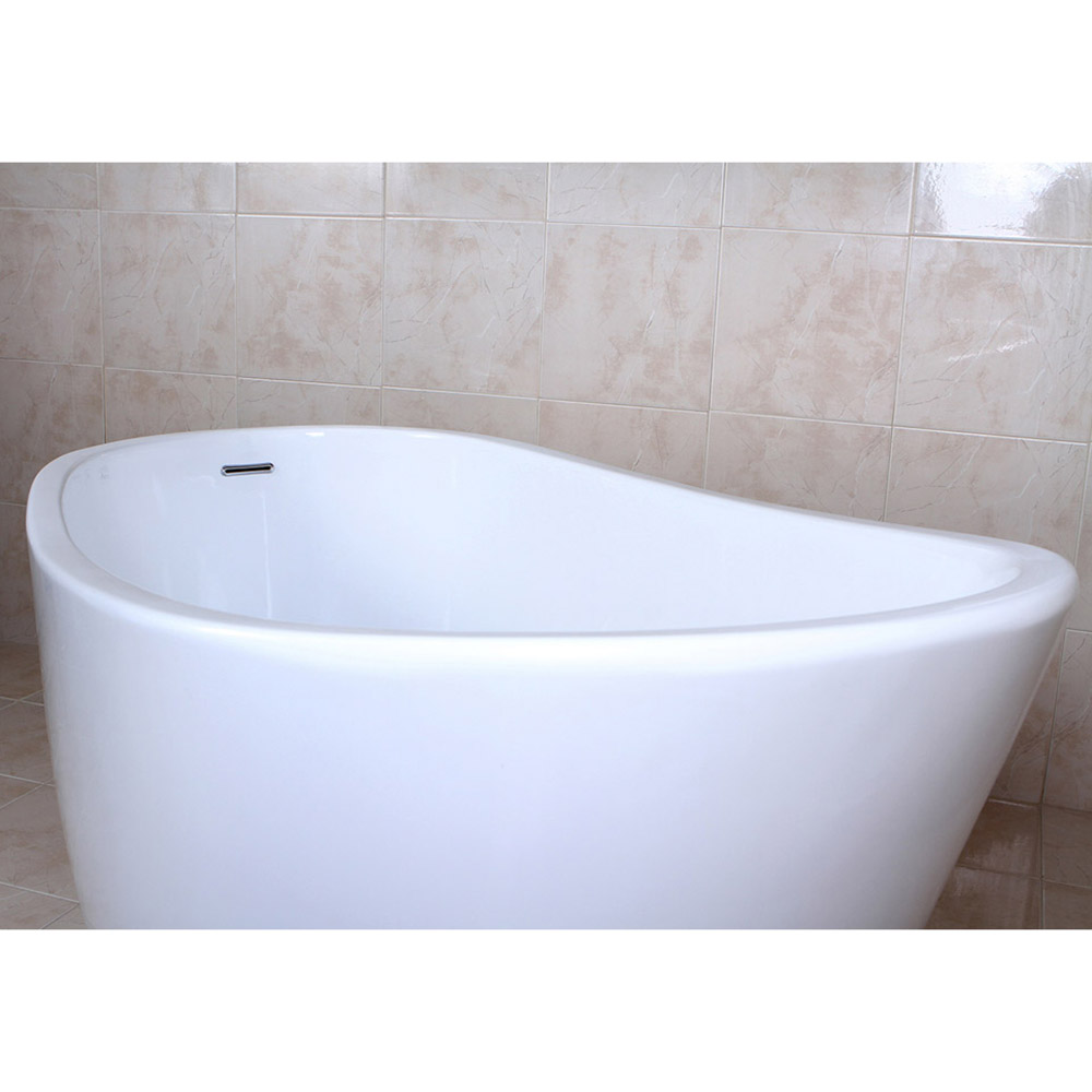 Modern White Kono Freestanding Single Slipper Bathtub | Zuri Furniture