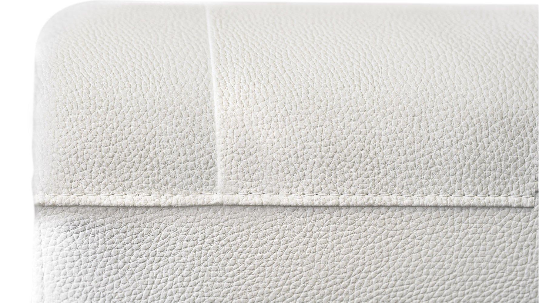 Modern White Leatherette 2 Piece Easton Sofa Set With