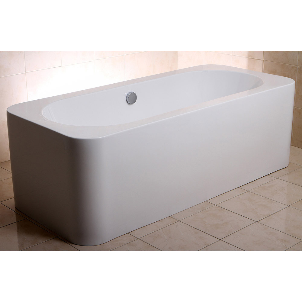 Modern white rectangular kiran drop in alcove bathtub Drop in tub dimensions