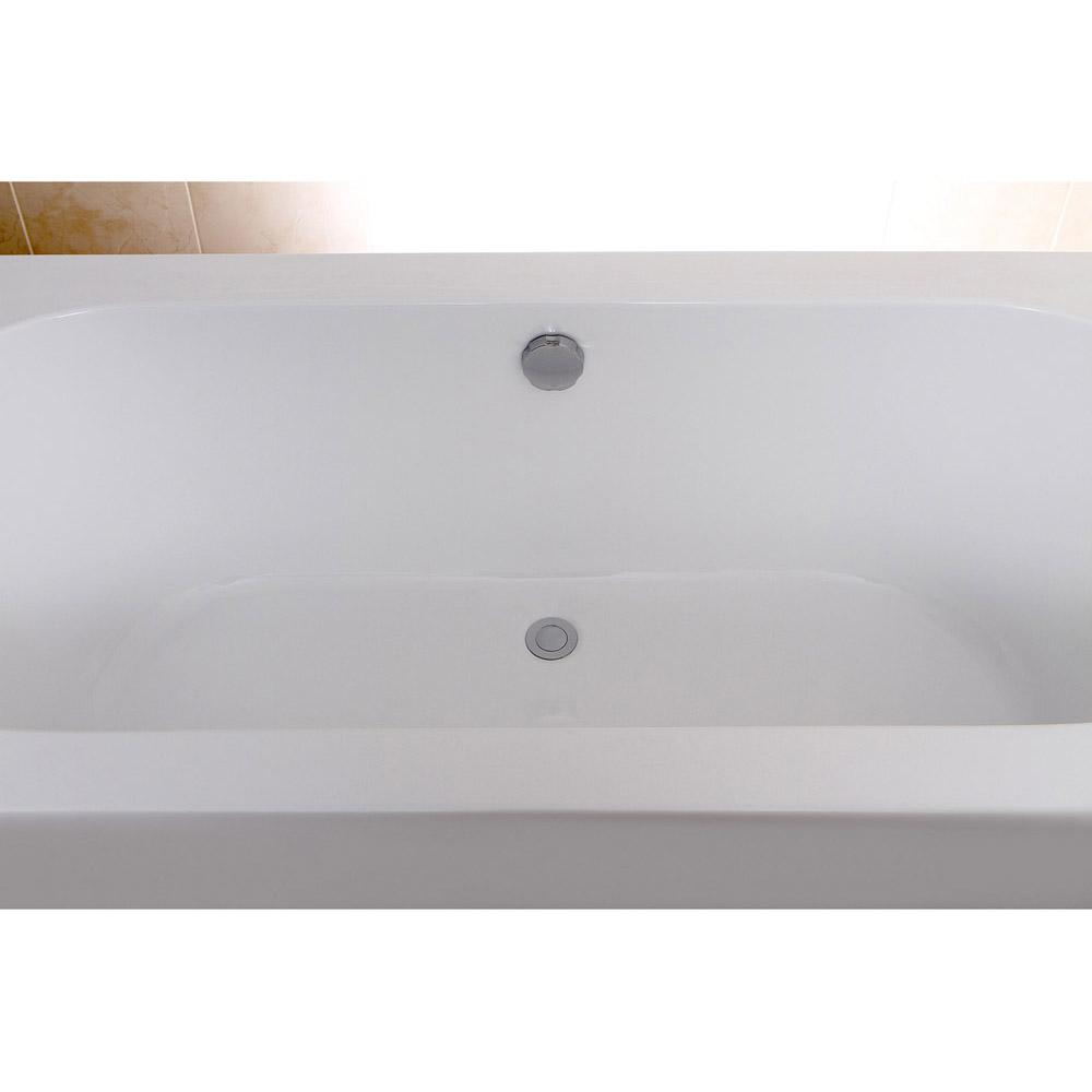 Modern White Rectangular Kiran Drop-In Alcove Bathtub | Zuri Furniture