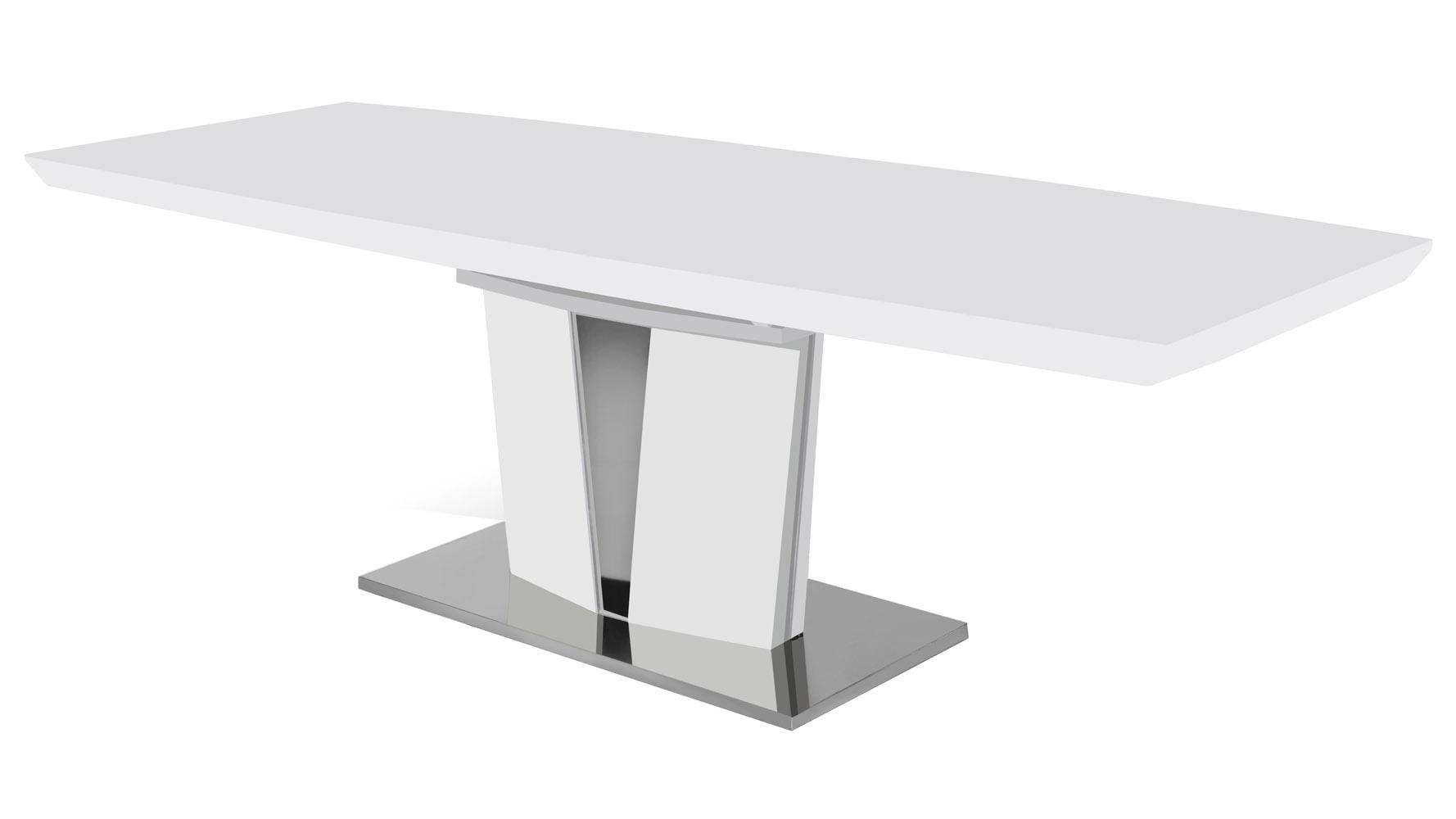 Modern Wood Veneer And Stainless Steel Base Brulee Dining