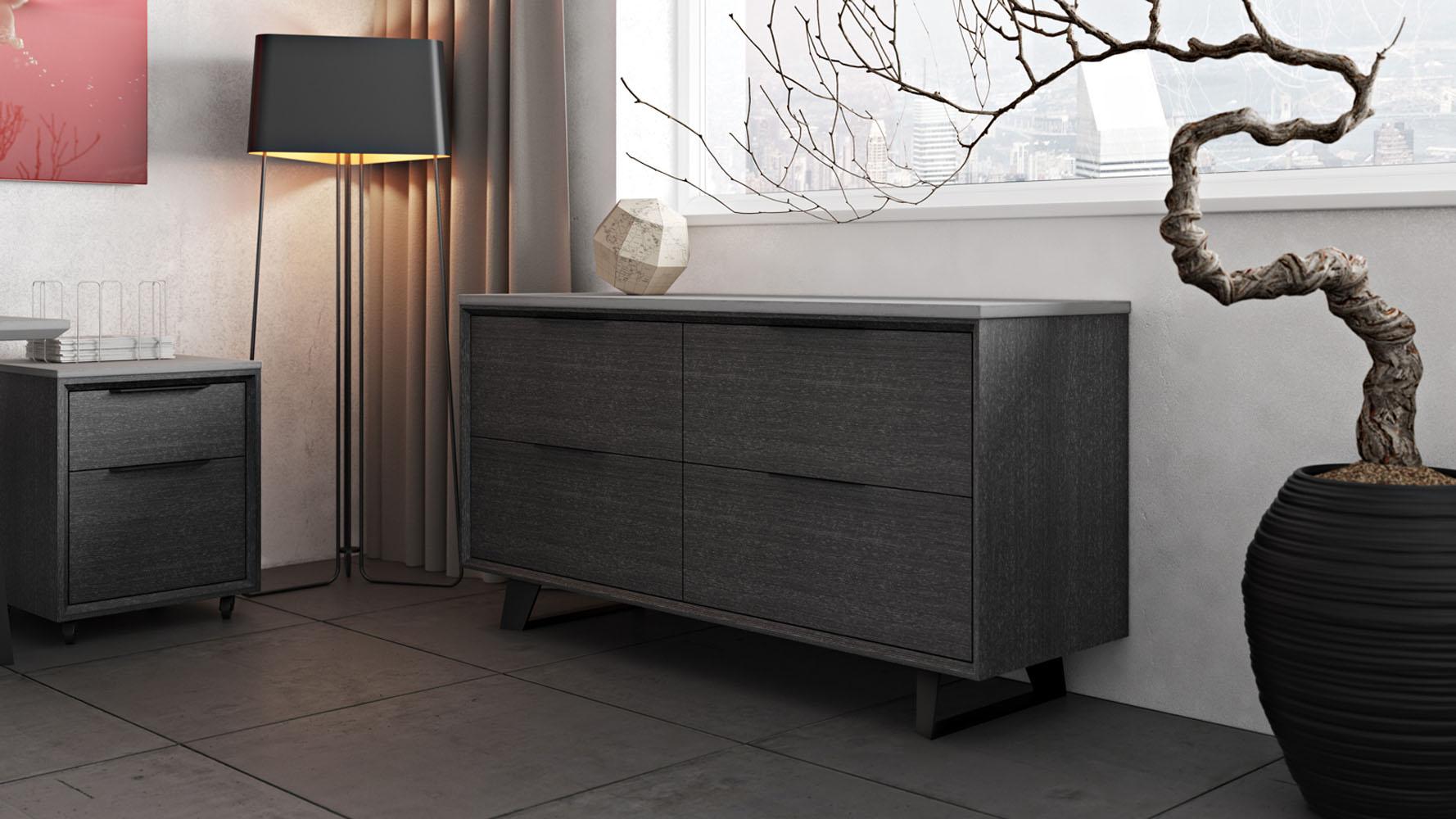 Modern Adal File Credenza - Concrete on Gray Oak | Zuri Furniture on filing door, filing shelf, filing bench,