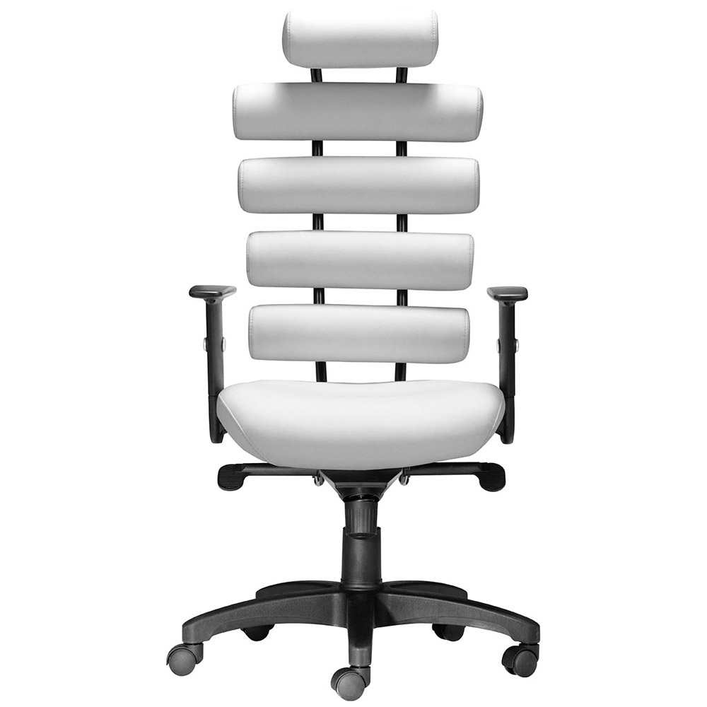Modern White Leather Office Chair rouler office chair | zuri furniture