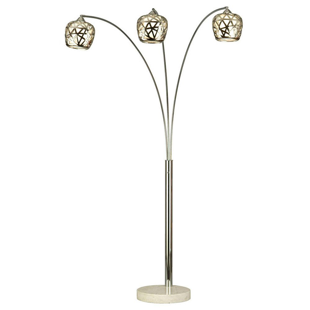 Chrome Arc Lamp modern lighting - contemporary floor and standing lamps | zuri