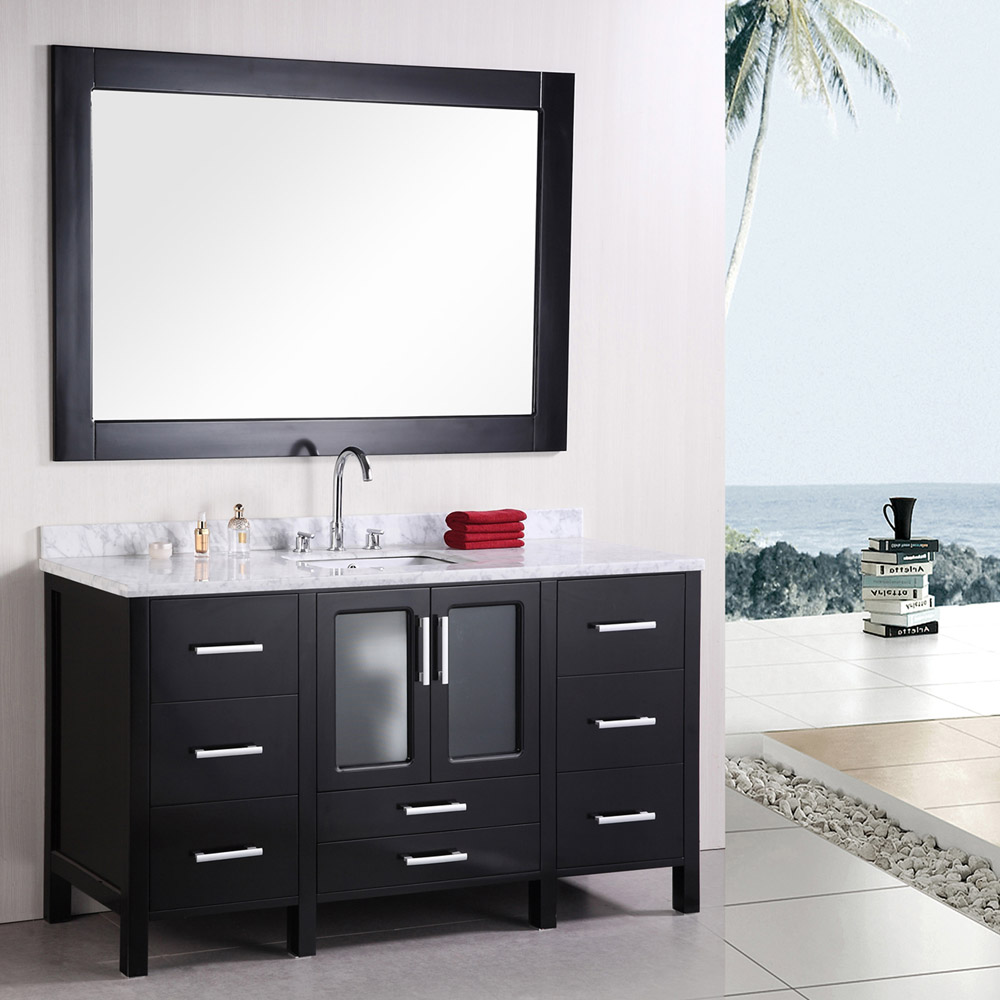 Alexander 60 single sink vanity set zuri furniture for Bath and vanity set