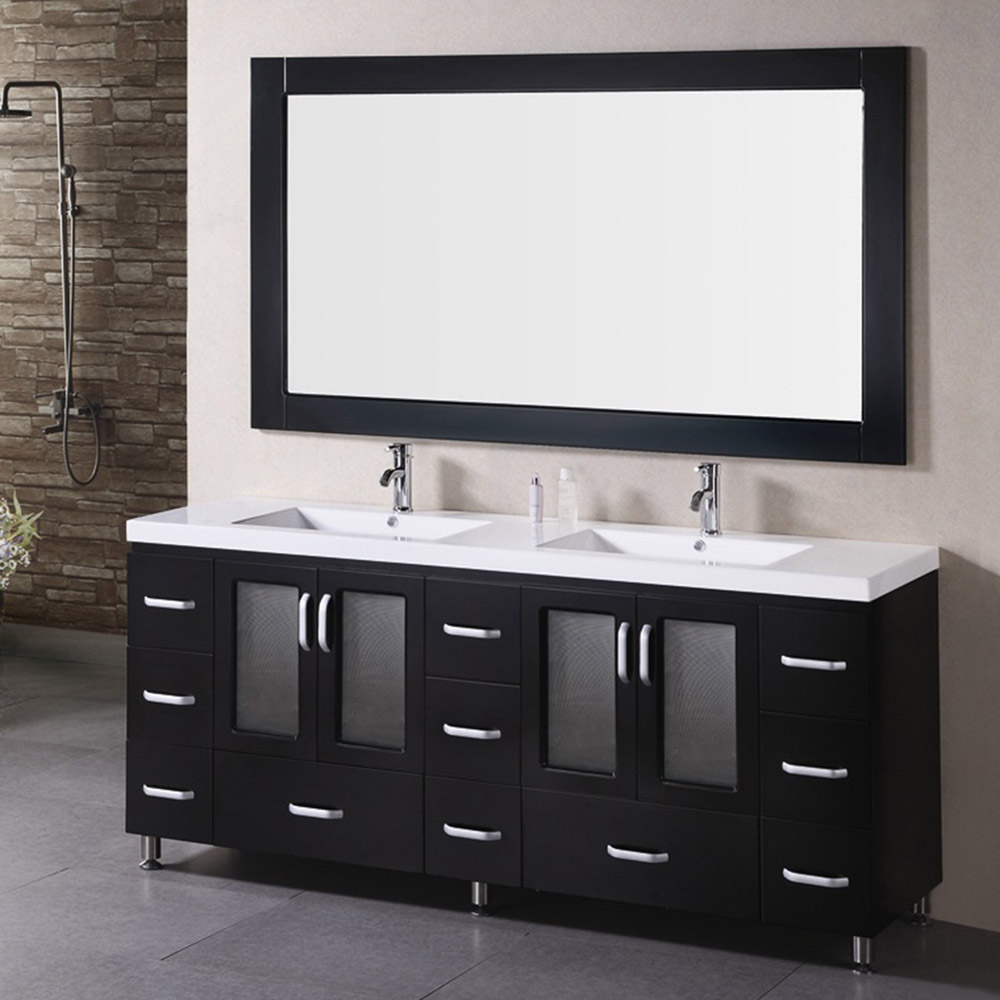 Alexander 72 double sink vanity set zuri furniture for Bath and vanity set