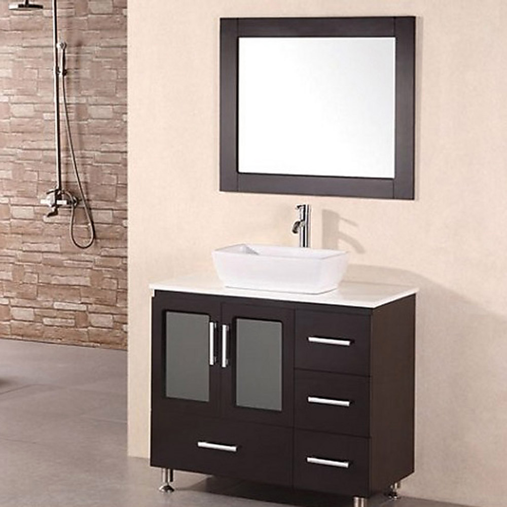 Alexia 36 single sink vanity set zuri furniture for Bath and vanity set