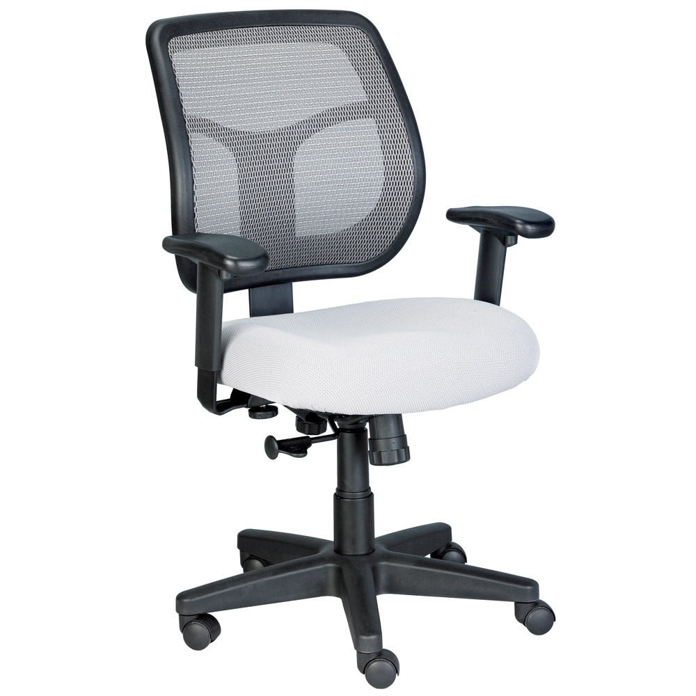 Apollo Mesh Back Swivel Chair With Fabric Seat Zuri