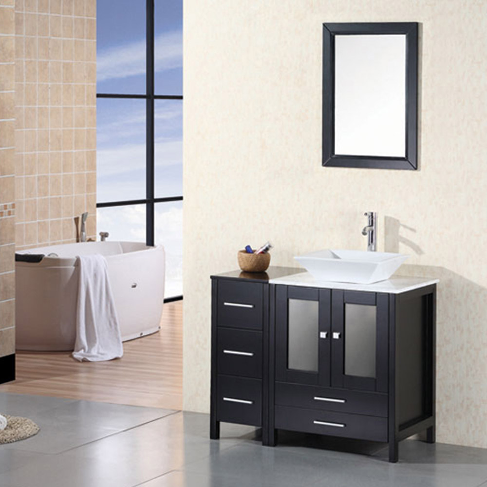 Ballard 36 single sink vanity set zuri furniture Bathroom sink and vanity sets