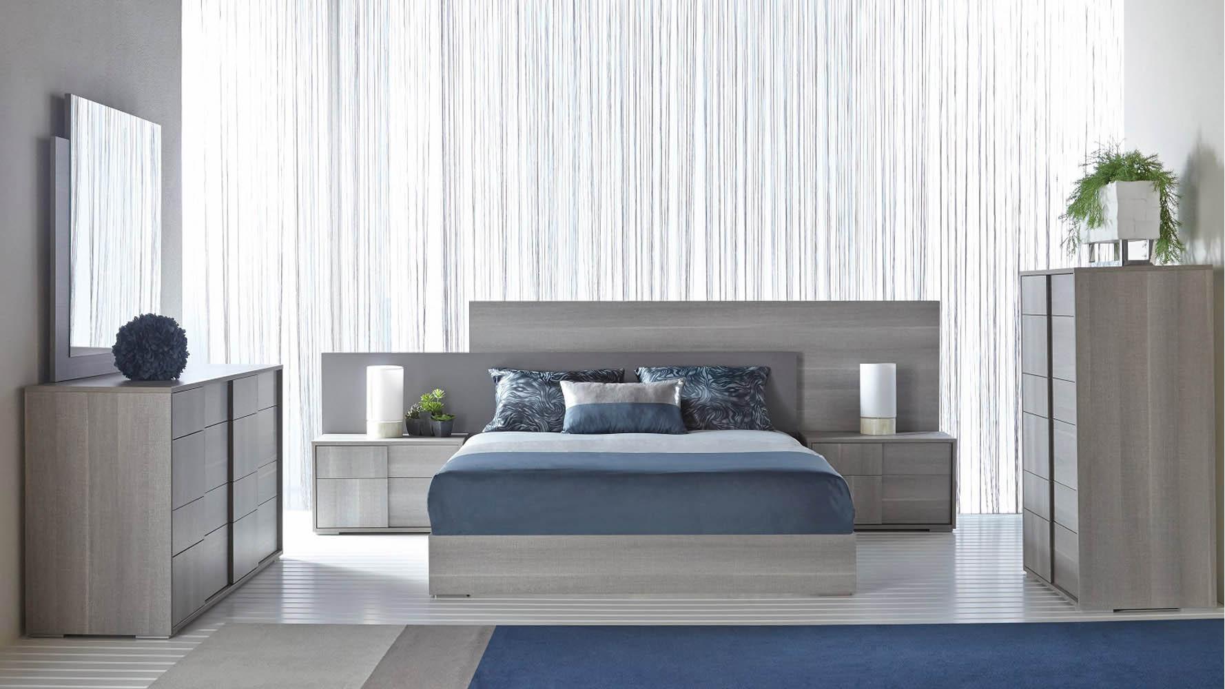 Modern bastille high chest matte grey oak eco veneer zuri furniture