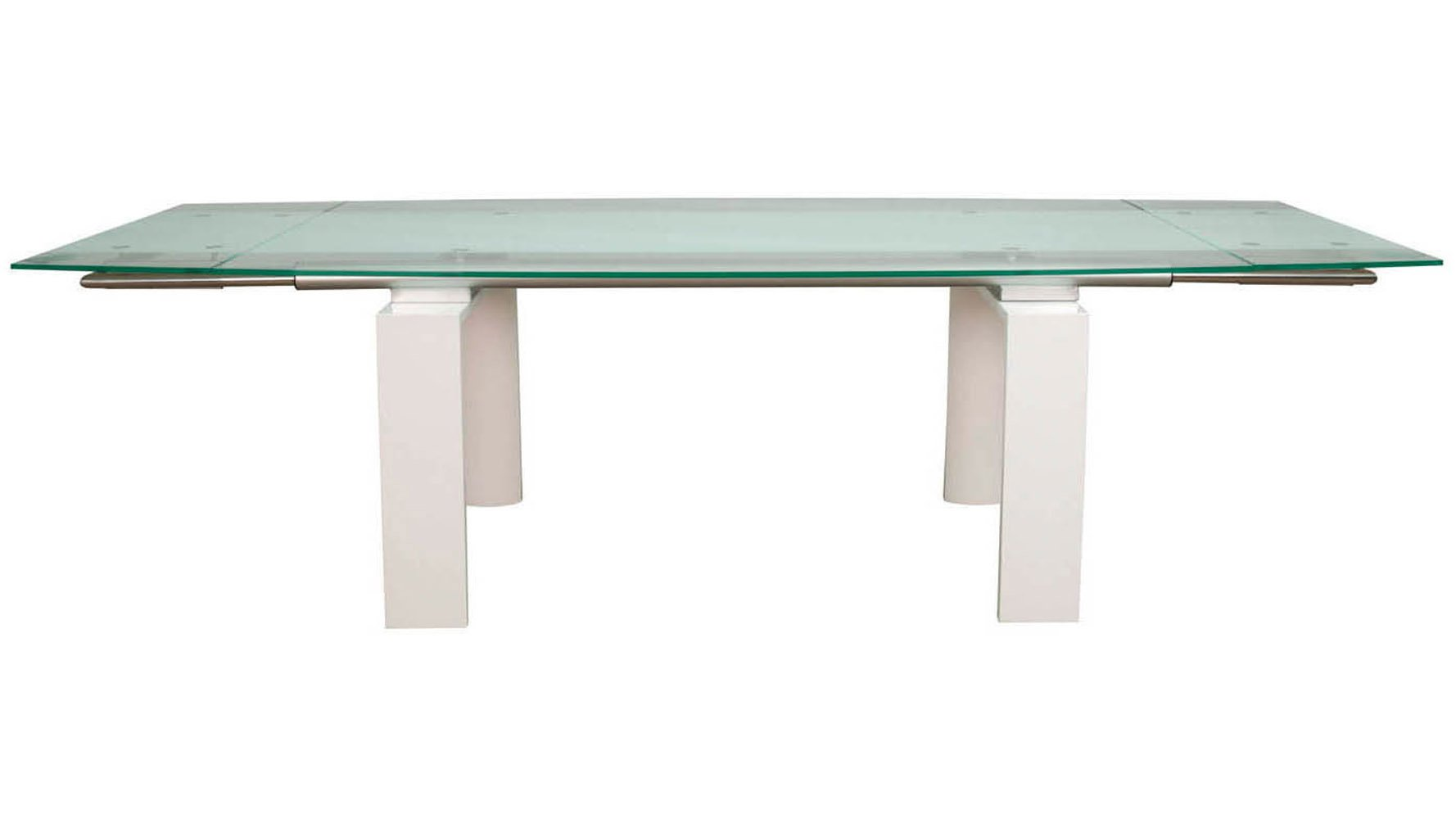 Glass Top Extension Dining Tables Brass Extension Dining