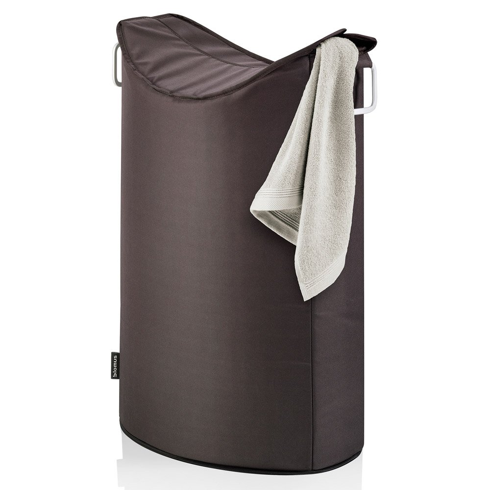 Blomus frisco laundry bin zuri furniture for Dark grey bathroom bin