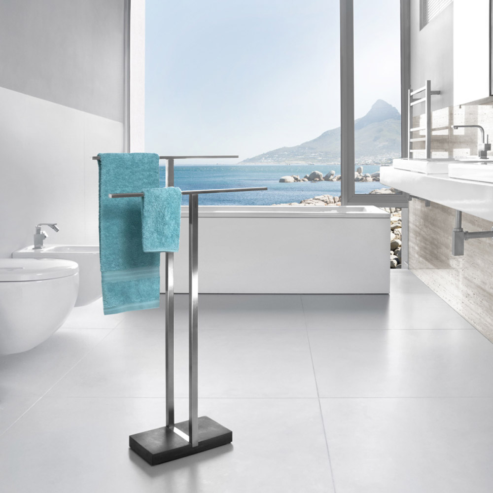 Modern Bathroom Blomus Menoto Towel Rack Stainless Steel