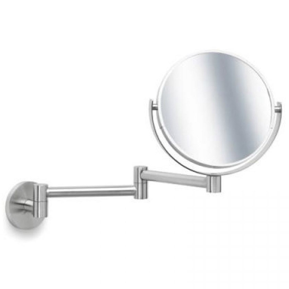 Modern Bathroom Blomus Primo Wall Mounted Cosmetic Mirror Stainless Steel Zuri Furniture