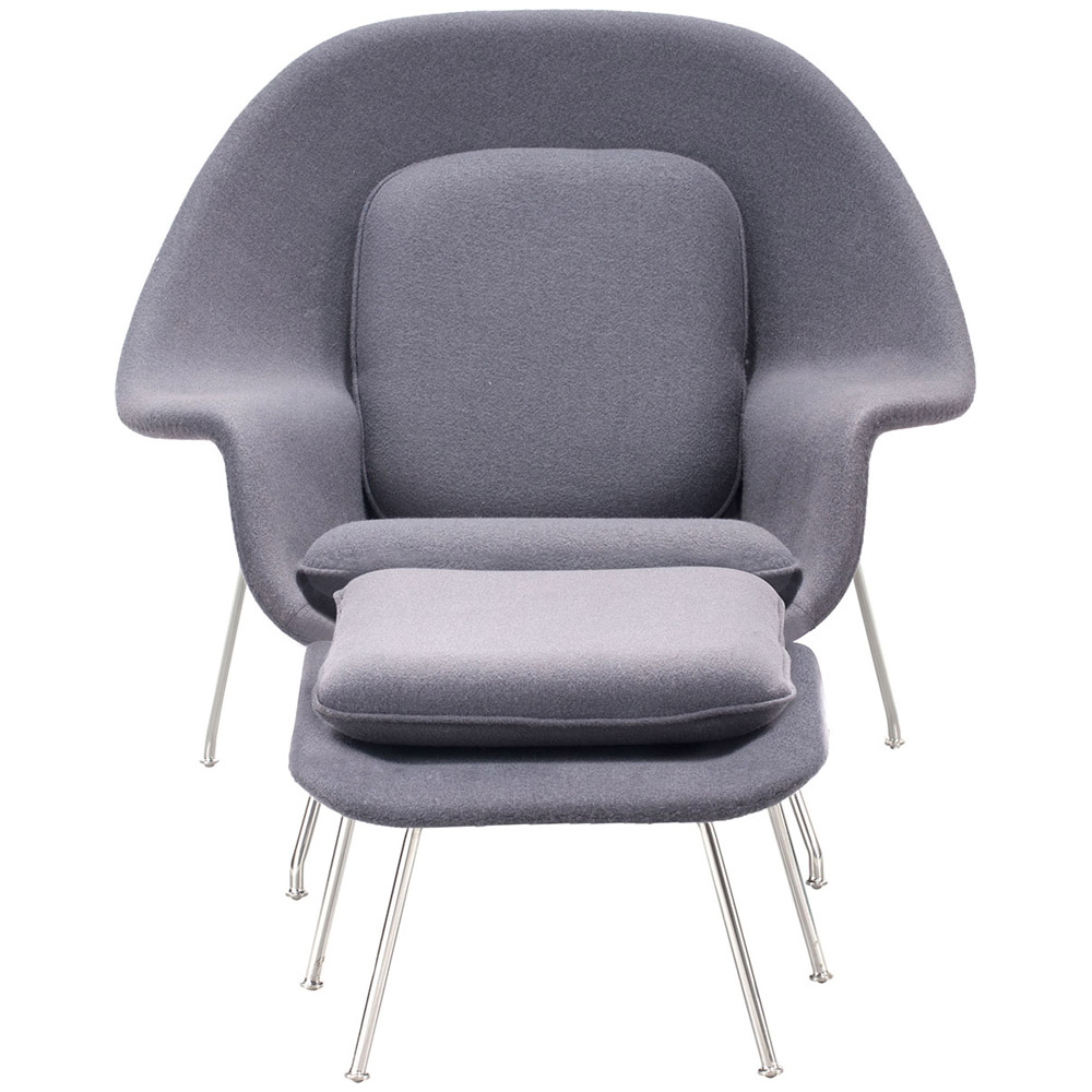 Belva Lounge Chair with Ottoman