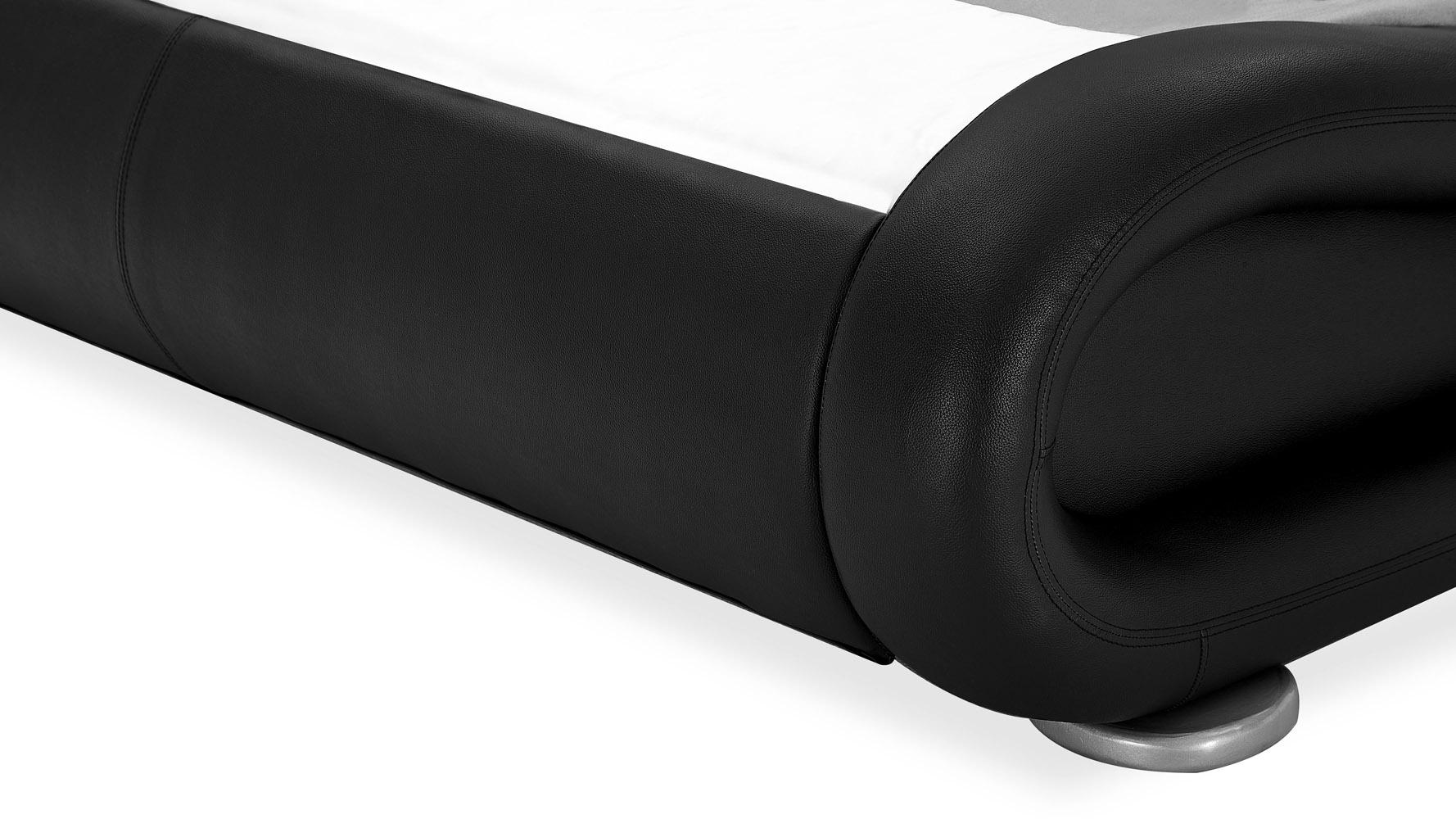 Marlo Leather Bed Black Zuri Furniture
