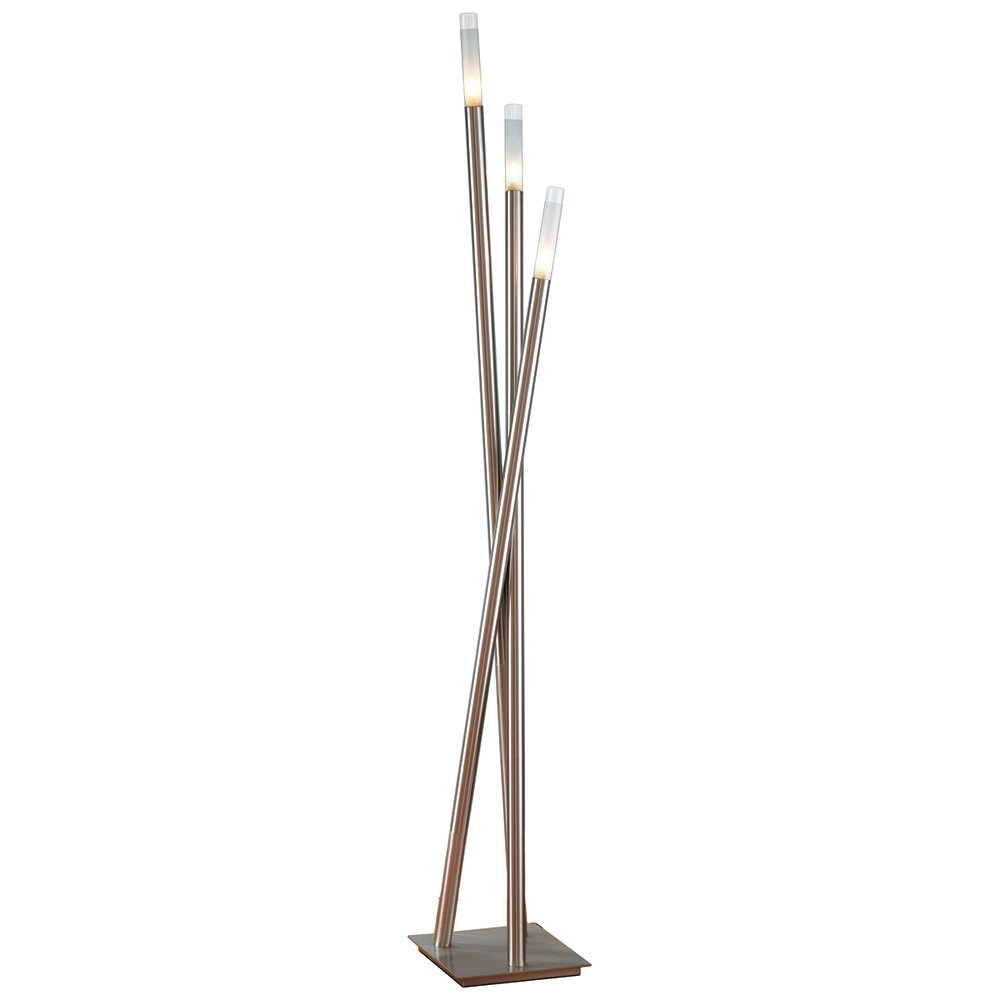 modern brushed nickel wand floor lamp zuri furniture. Black Bedroom Furniture Sets. Home Design Ideas