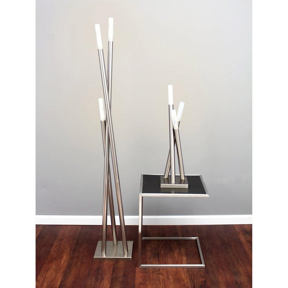 Modern Brushed Nickel Wand Floor Lamp Zuri Furniture