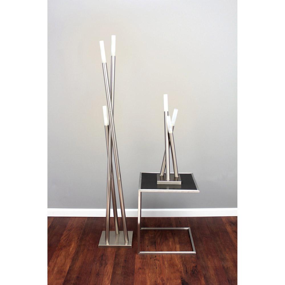 modern brushed nickel wand table lamp zuri furniture. Black Bedroom Furniture Sets. Home Design Ideas