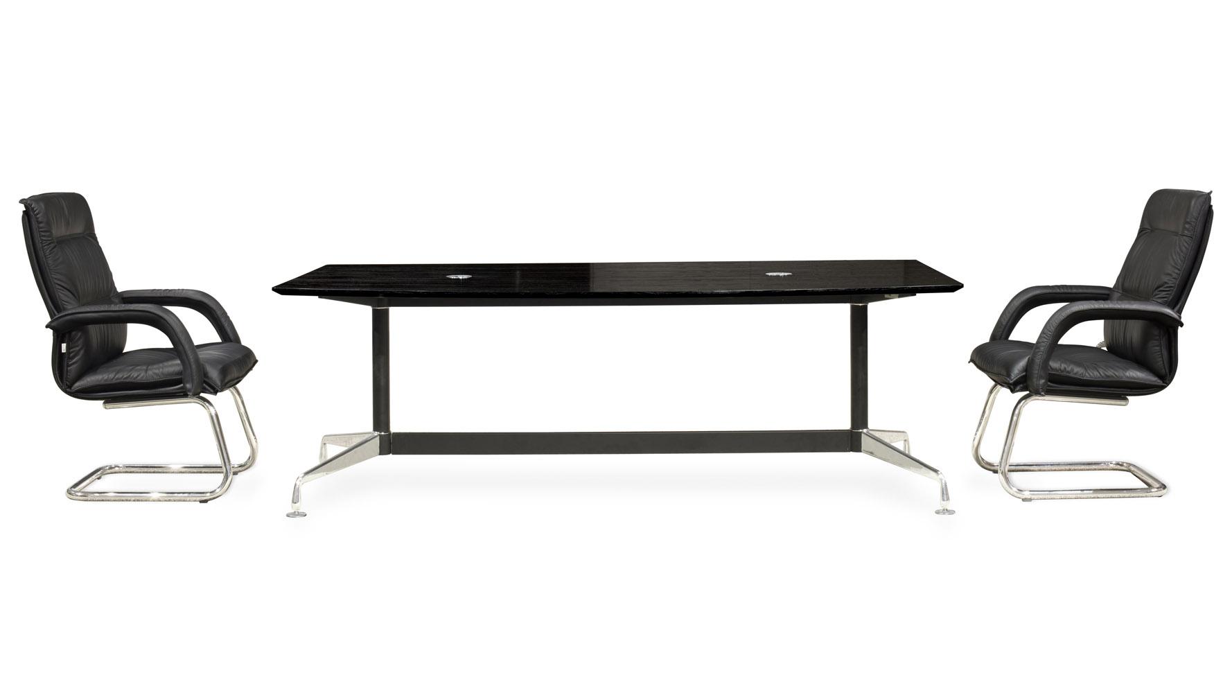 Modern Eisenhower Conference Table Dark Oak Zuri Furniture