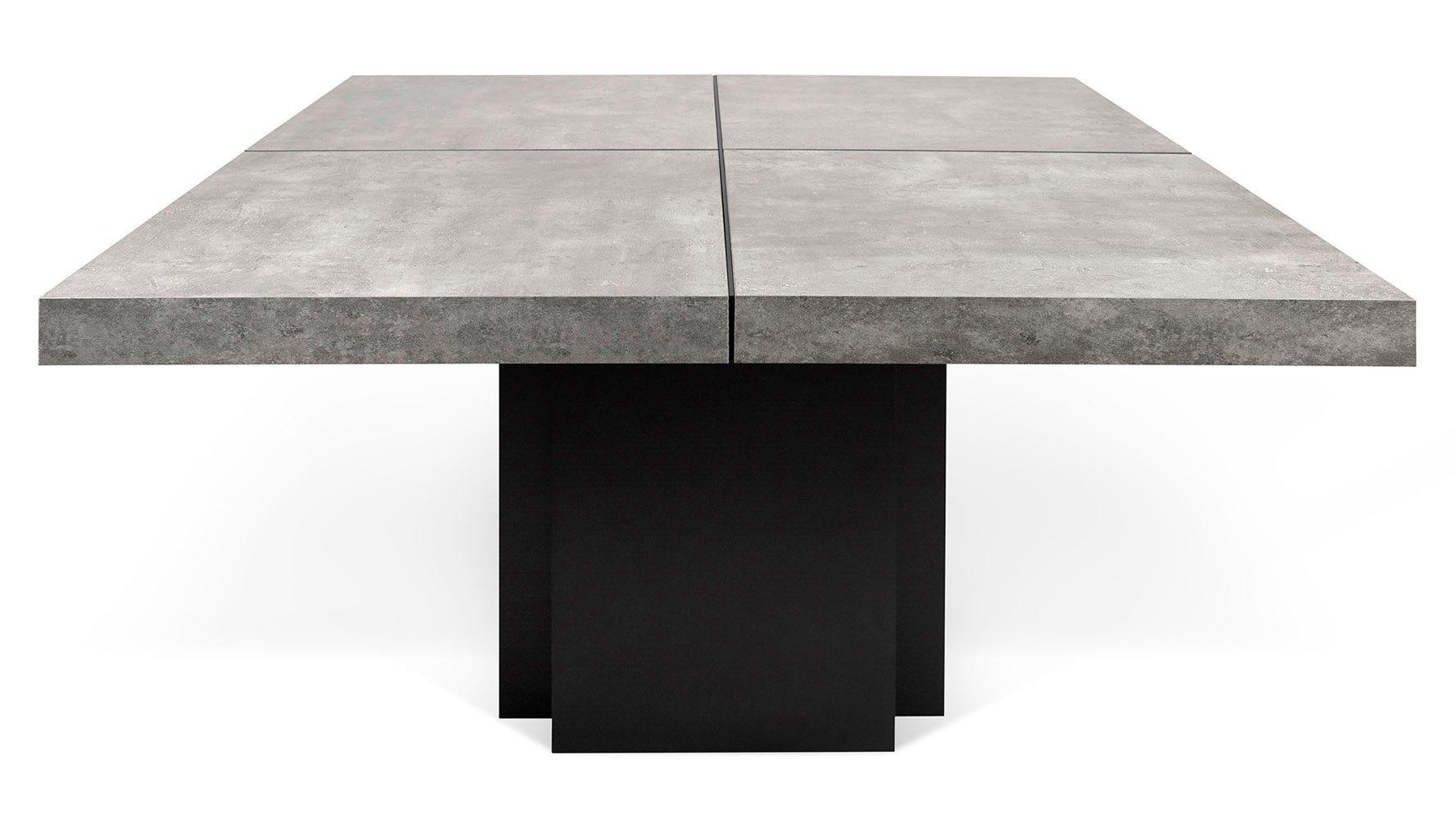 calliope 51 inch dining table zuri furniture. Black Bedroom Furniture Sets. Home Design Ideas