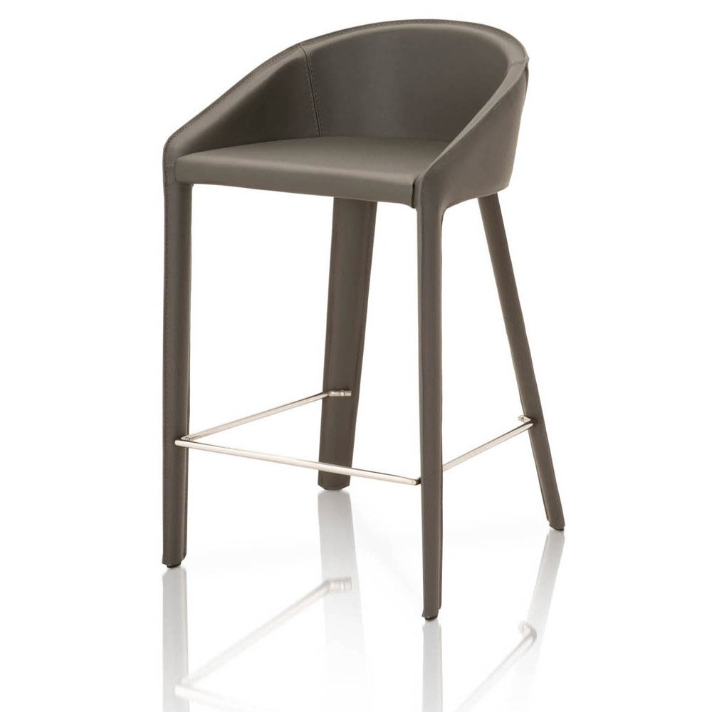 Caprica Leather Counter Stool