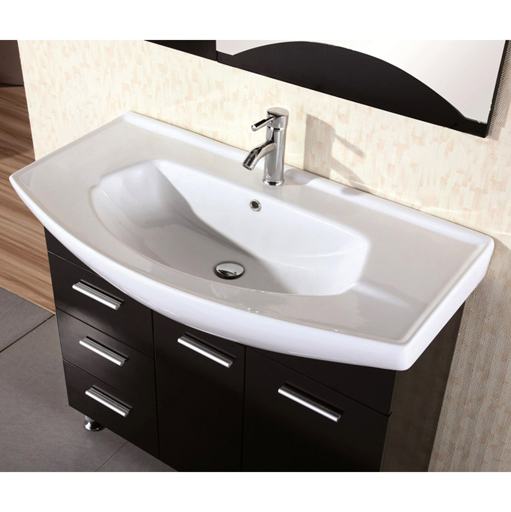 Cerina 40 single sink vanity set zuri furniture Bathroom sink and vanity sets