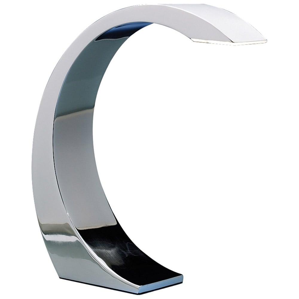Modern Chrome Led Swipe Touch Lamp Zuri Furniture