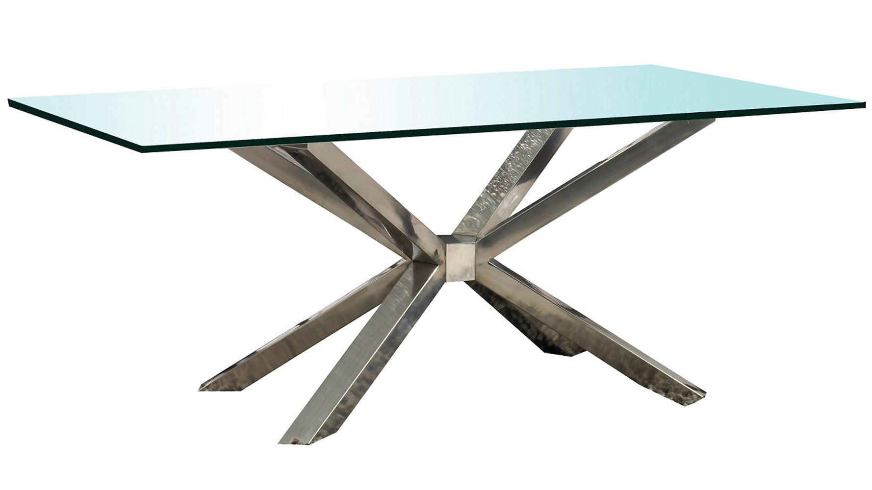 Cointet 75 Inch Dining Table Clear Glass