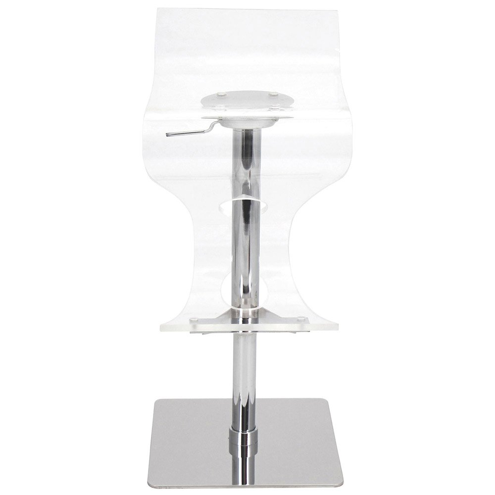 Acrylic Barstool Modern Clear Chrome Crete Bar Stool Zuri Furniture