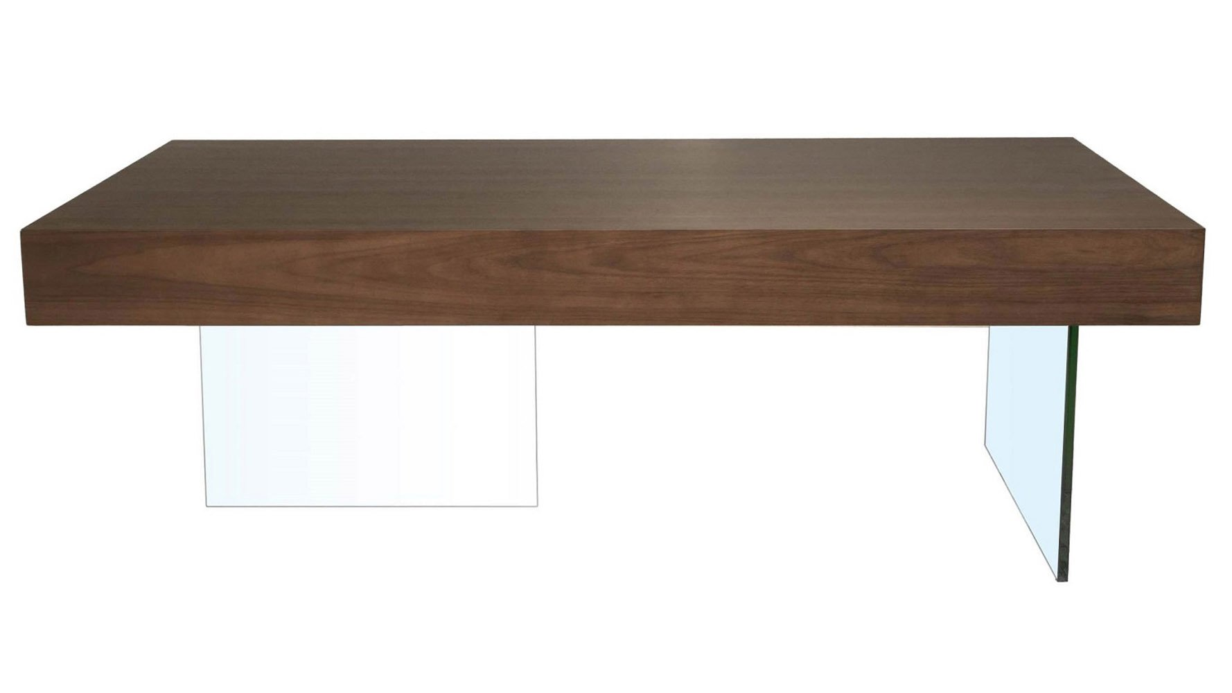 Modern Clio Coffee Table Dark Walnut Zuri Furniture