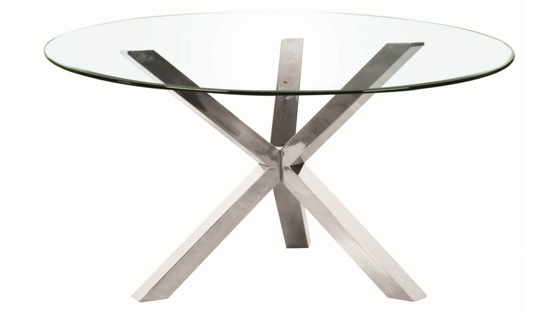 Cointet 72 Inch Round Dining Table Clear Glass Zuri Furniture