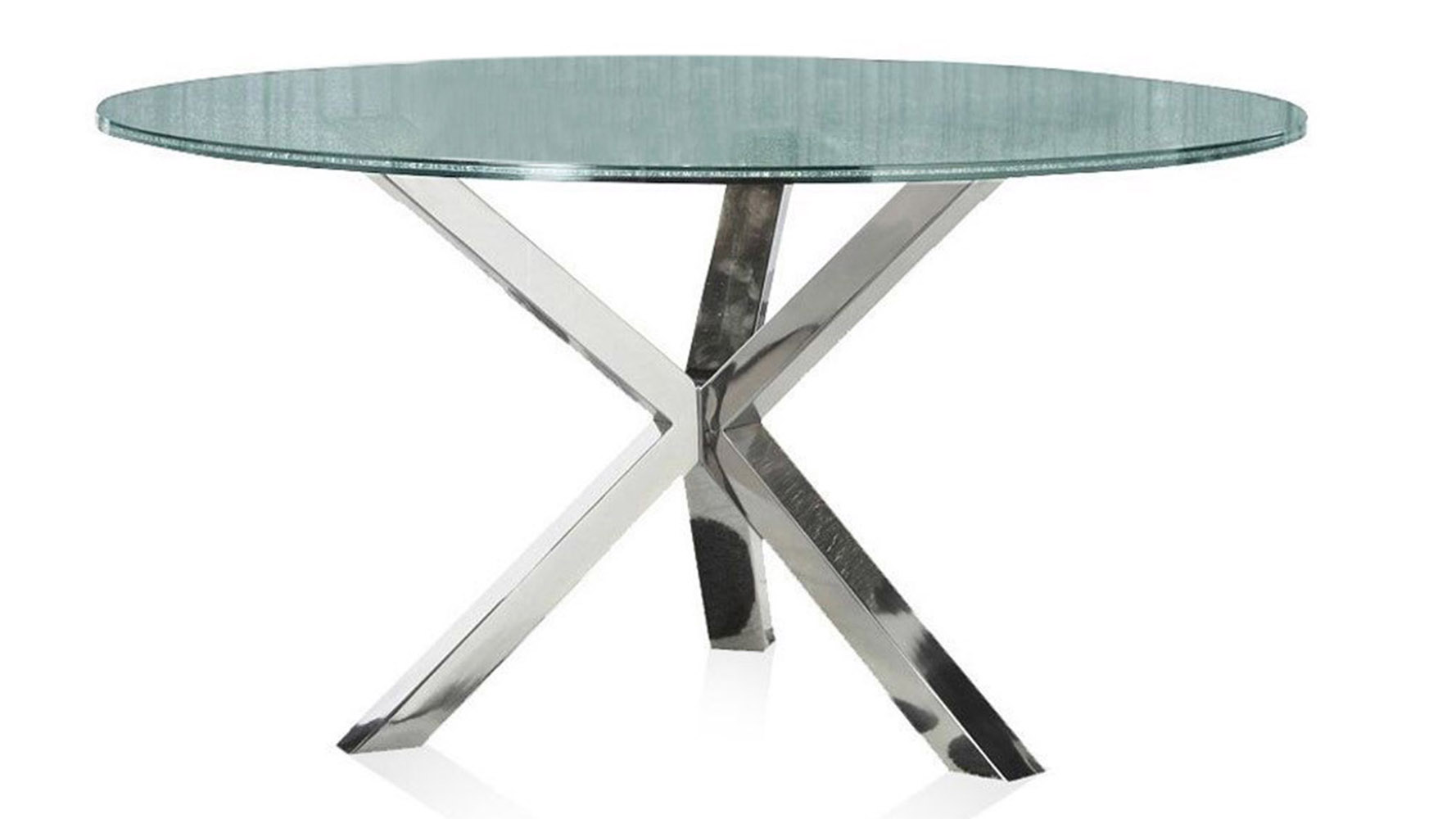 Cointet Inch Round Dining Table Crackle Glass Zuri Furniture - Modern 60 inch round dining table