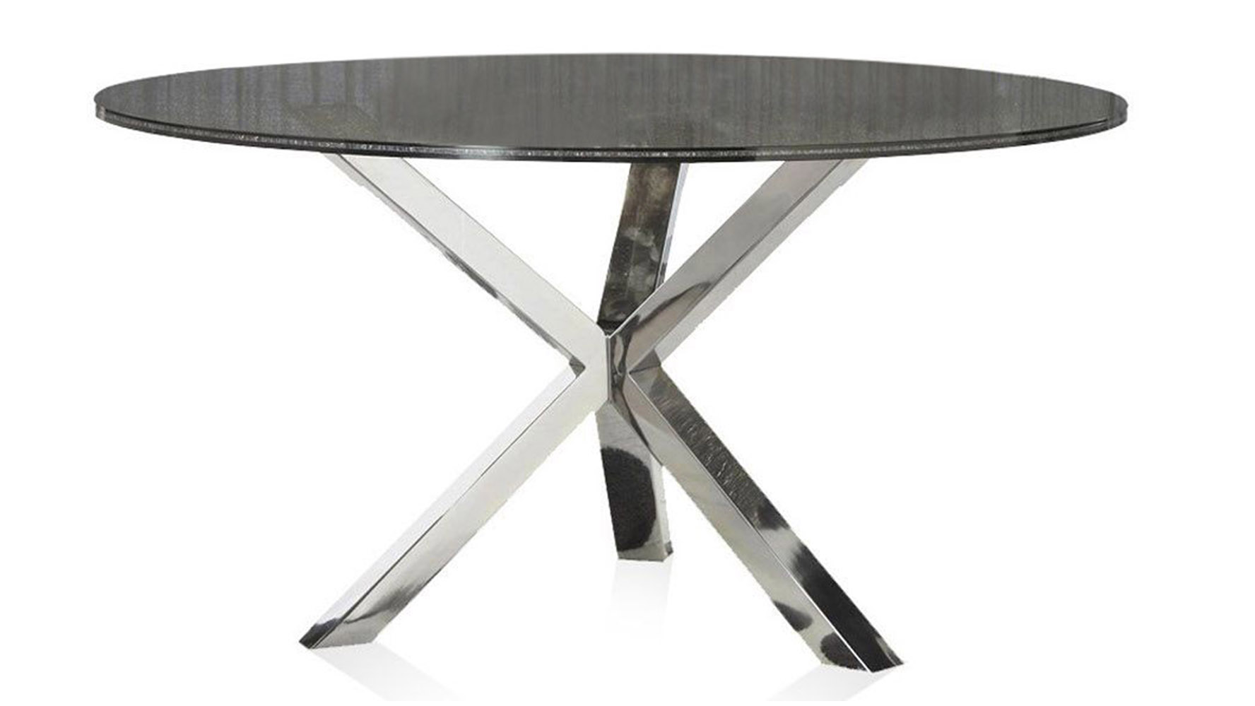 Cointet 60 Inch Round Dining Table Crackle Glass Zuri Furniture