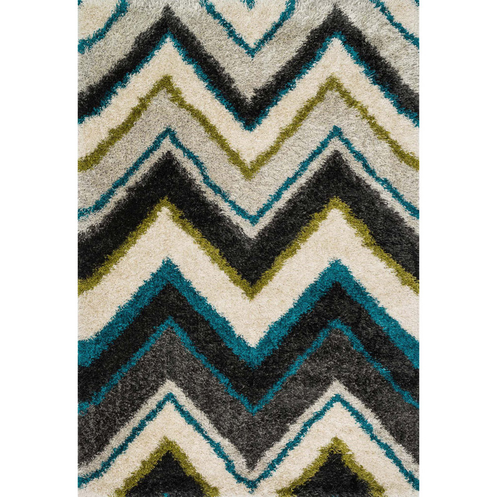 Constellation Chevron Shag Rug