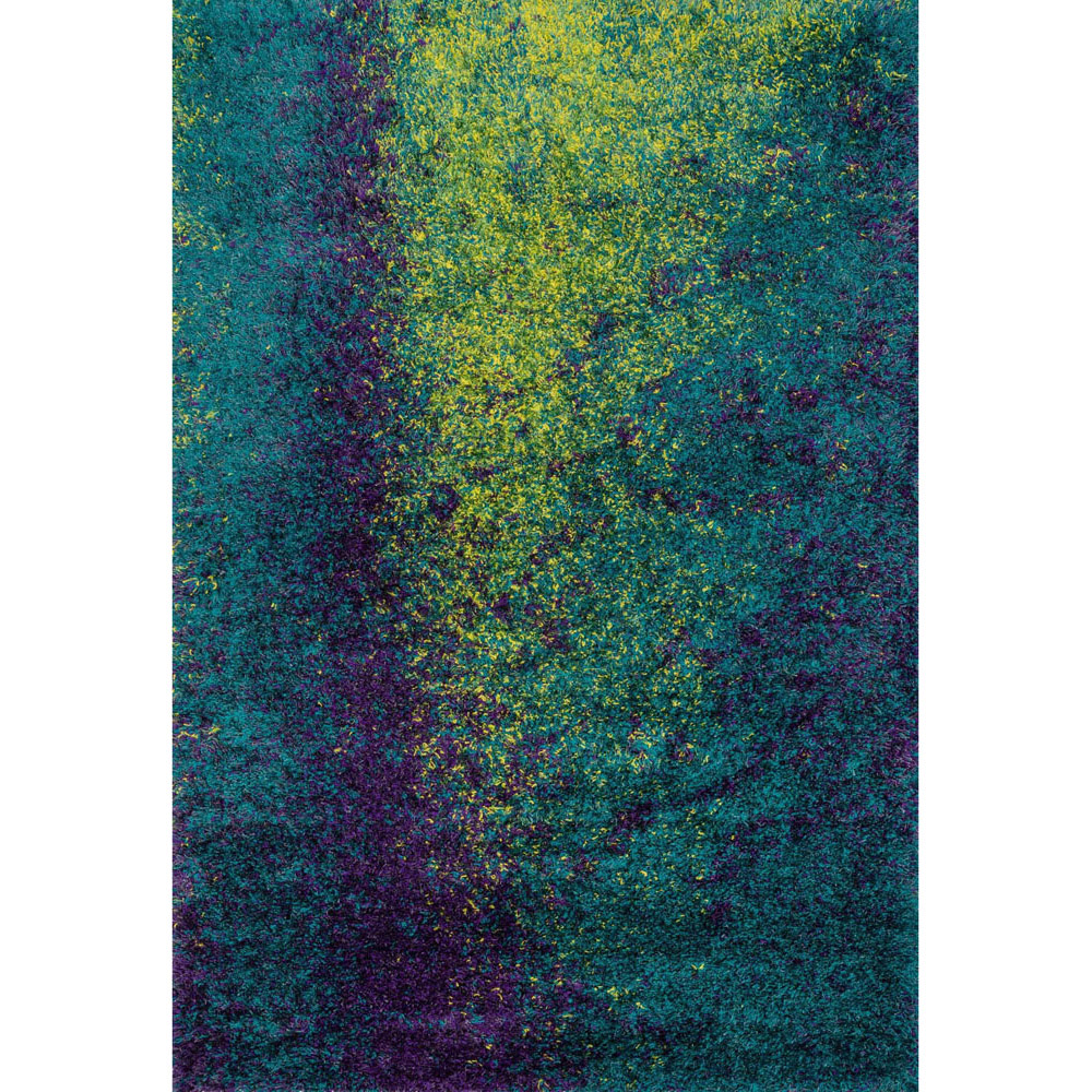 Constellation Peacock Shag Rug