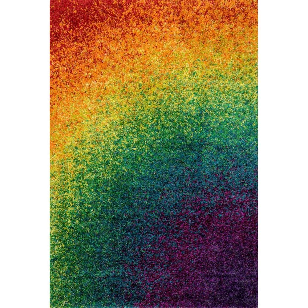 Constellation Rainbow Shag Rug