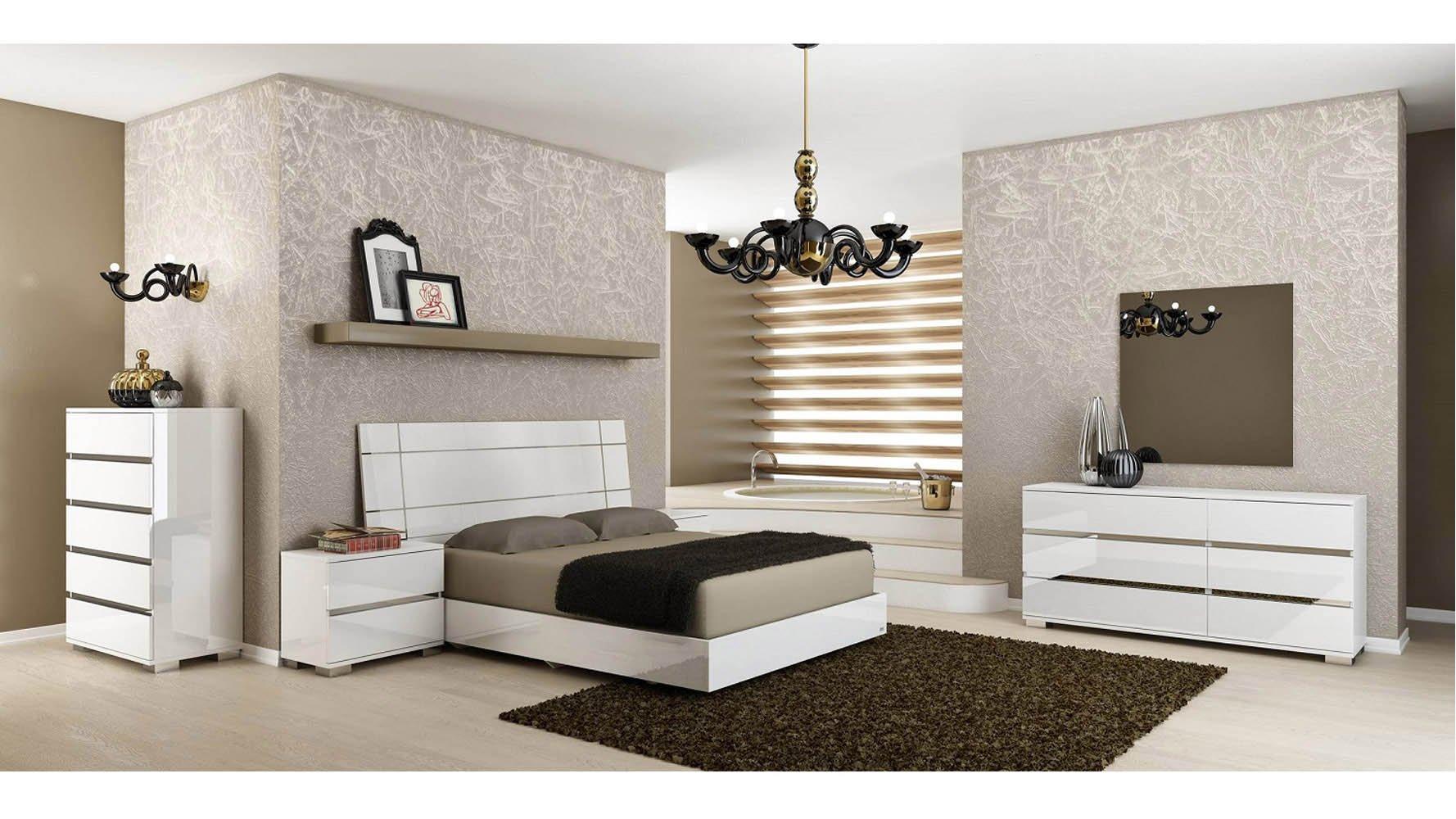 Modern Corbusier Nightstand White High Gloss Acrylic