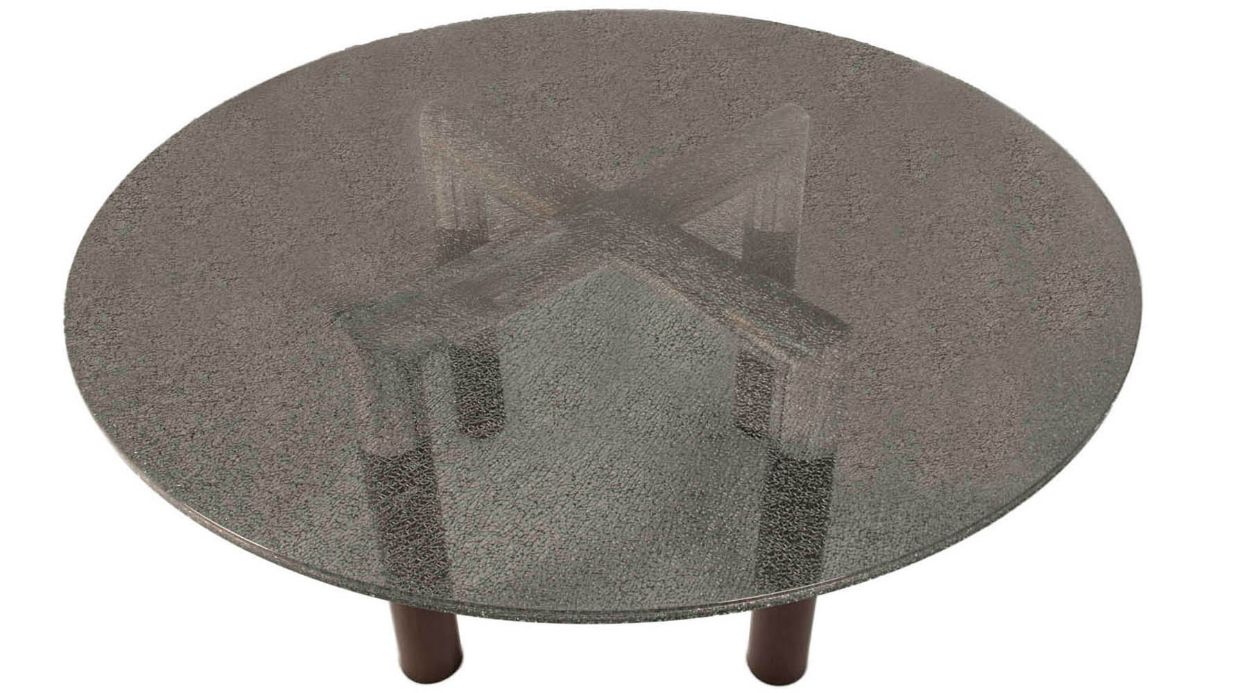 """Round Glass Dining Table 48 Inches: Crackled 48"""" Round Dining Table Top"""