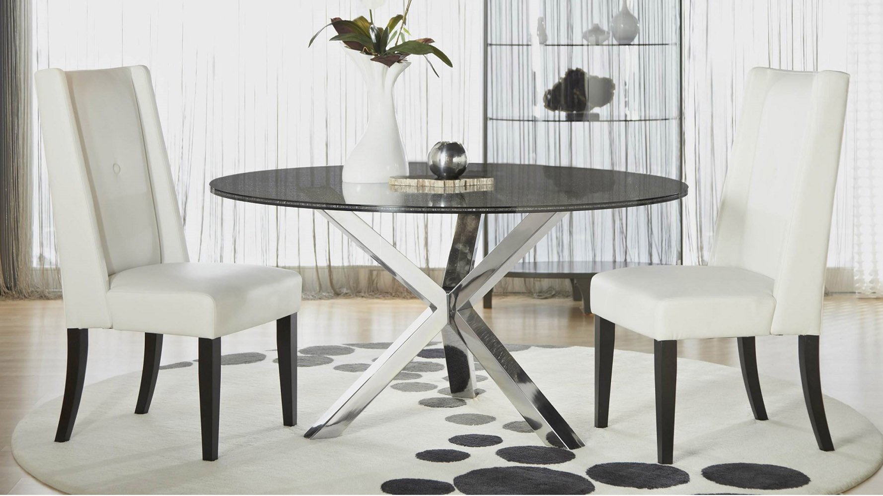 Crackled 60 Quot Round Dining Table Top Zuri Furniture
