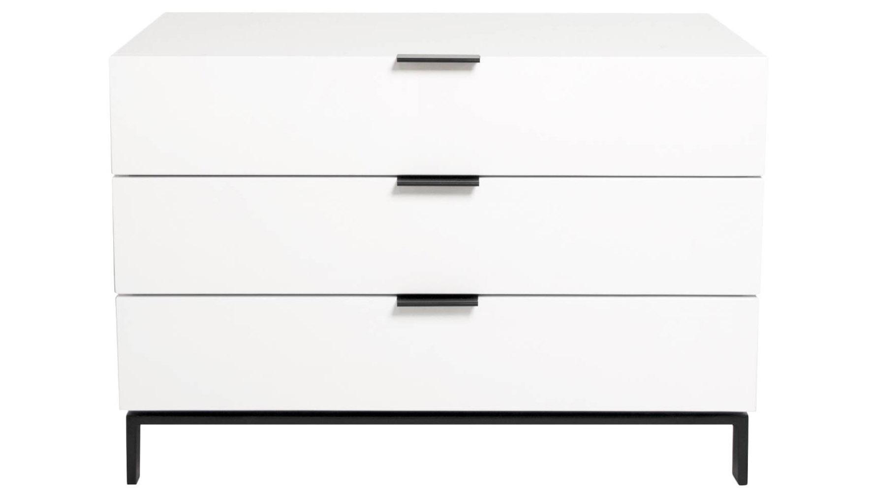 Modern Deacon 3 Drawer Modular Tv Cabinet White High Gloss
