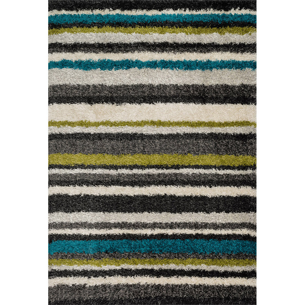 Diagon Linear Shag Rug