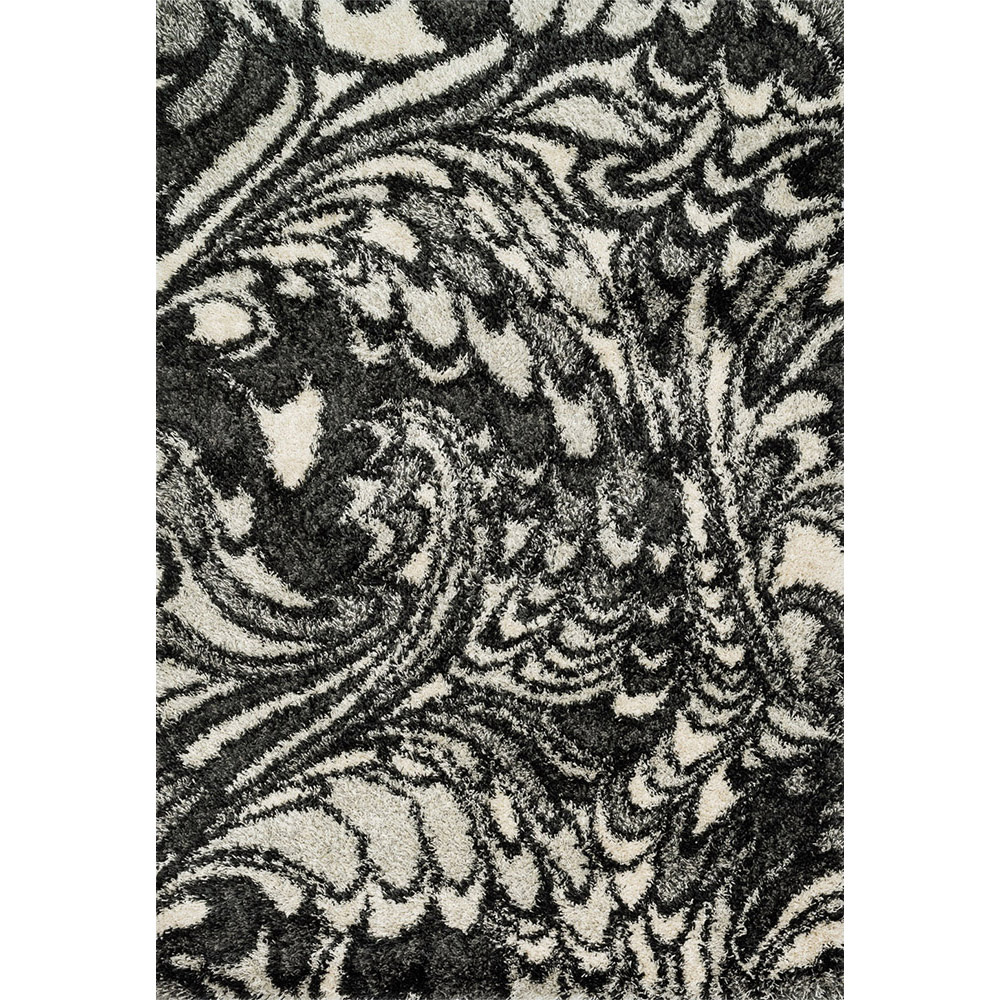 Diagon Charcoal and Ivory Shag Rug