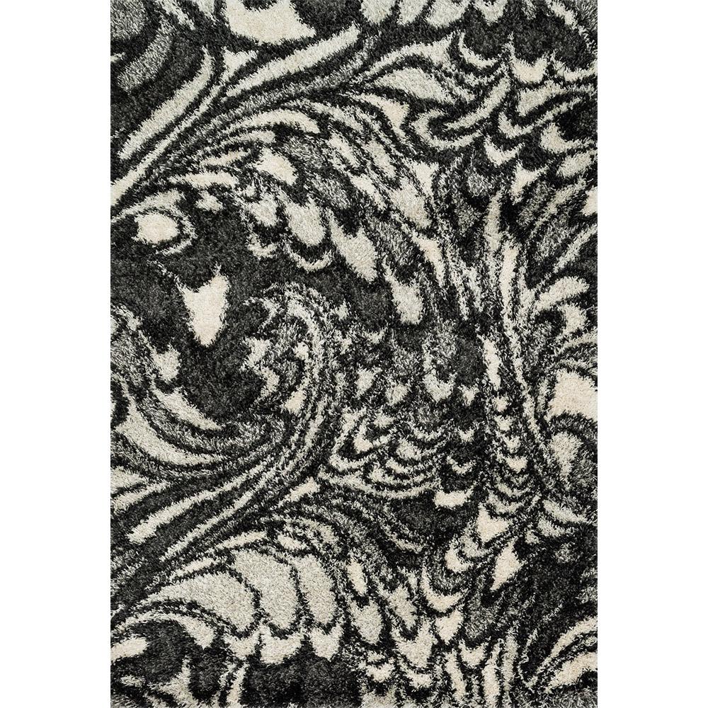 Diagon Charcoal and Ivory Shag Rug