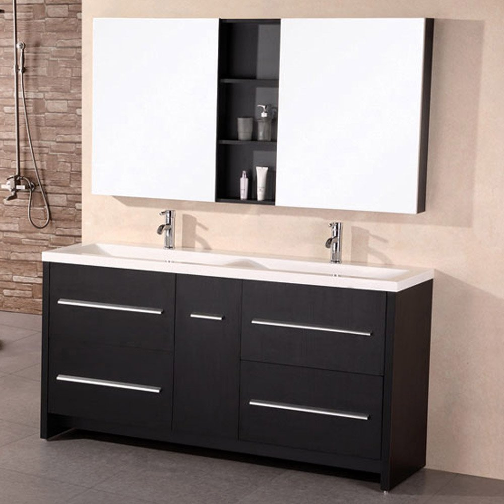 Donovan 63 Quot Double Sink Vanity Set Zuri Furniture