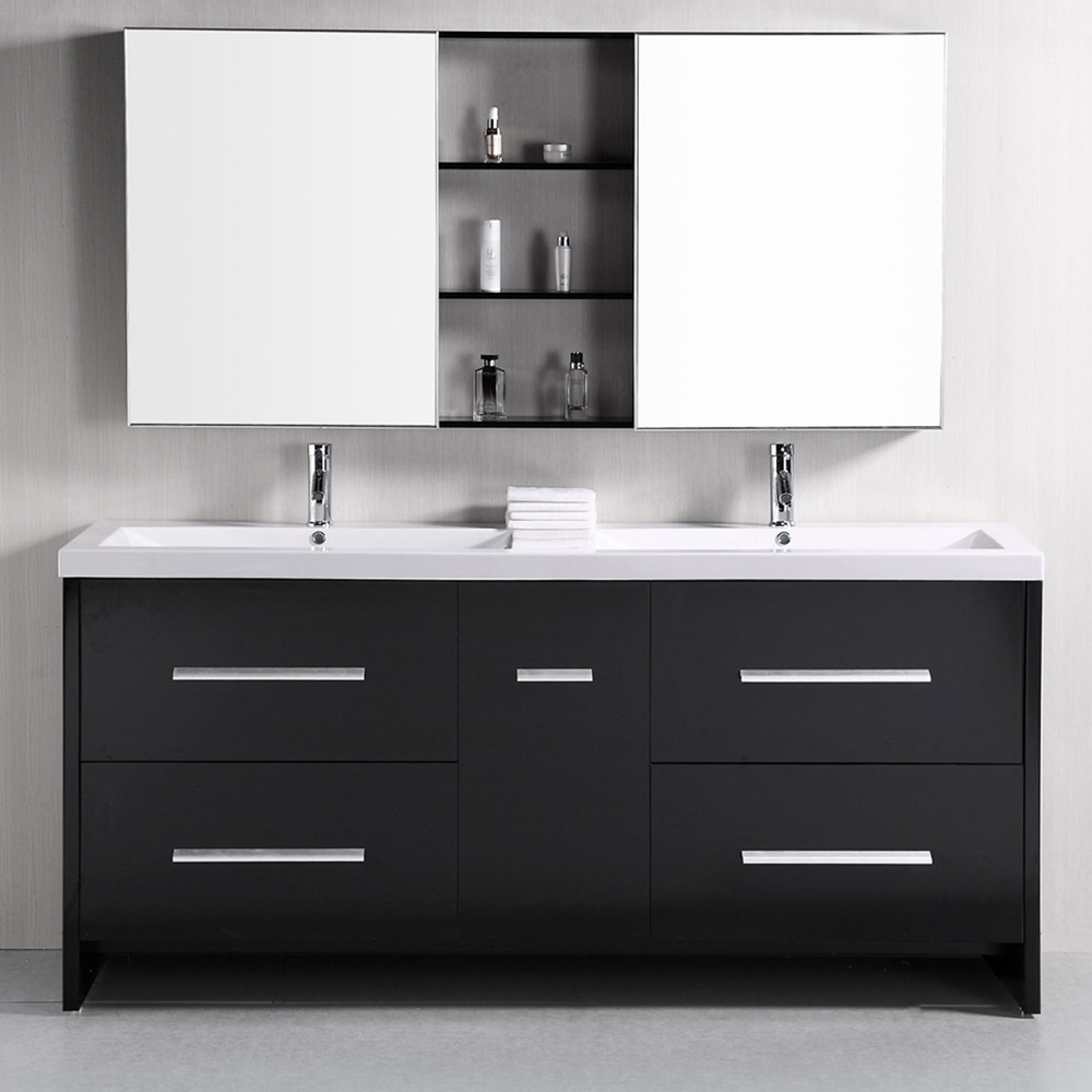 Donovan 72 double sink vanity set zuri furniture for Bath and vanity set