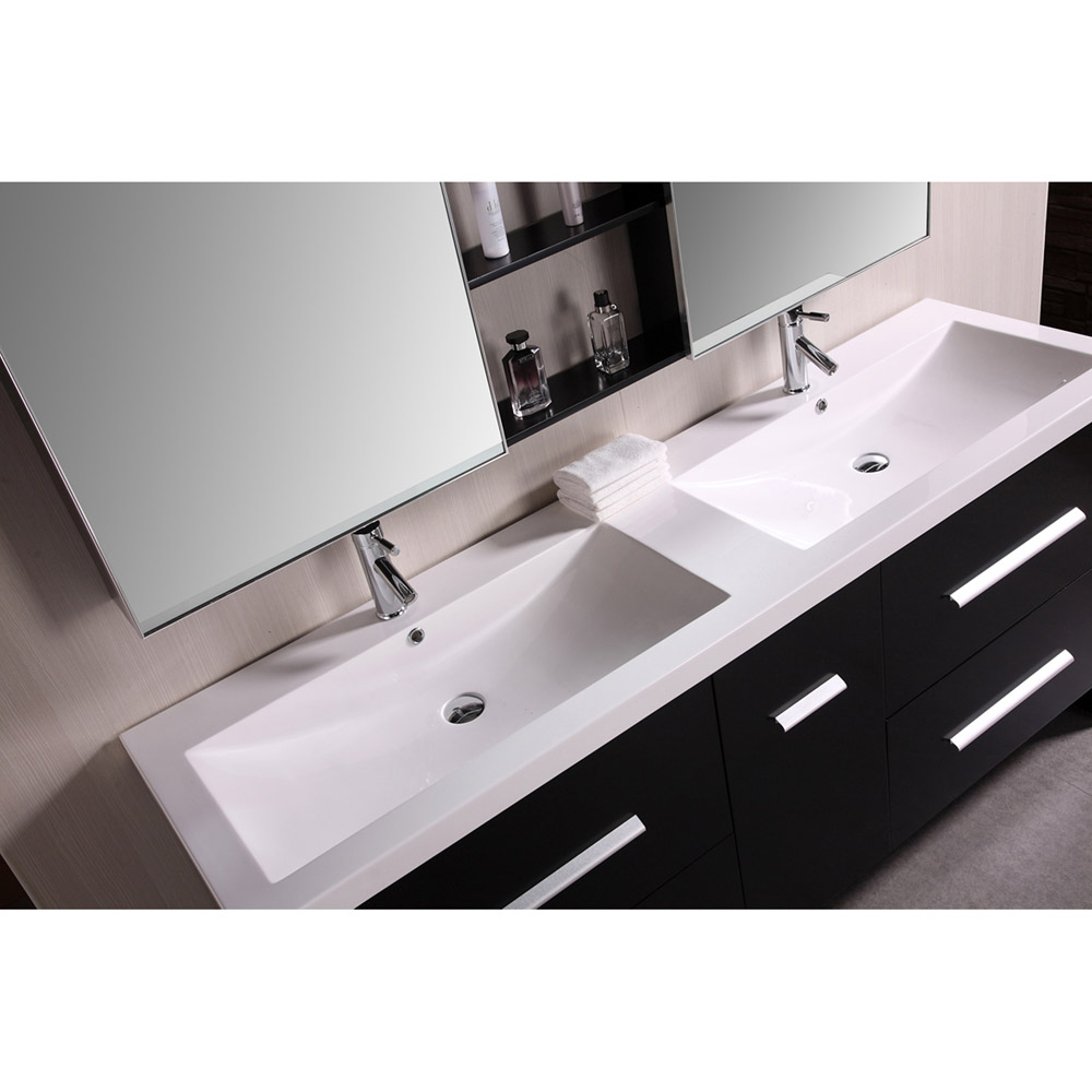 Donovan 72 Quot Double Sink Vanity Set Zuri Furniture