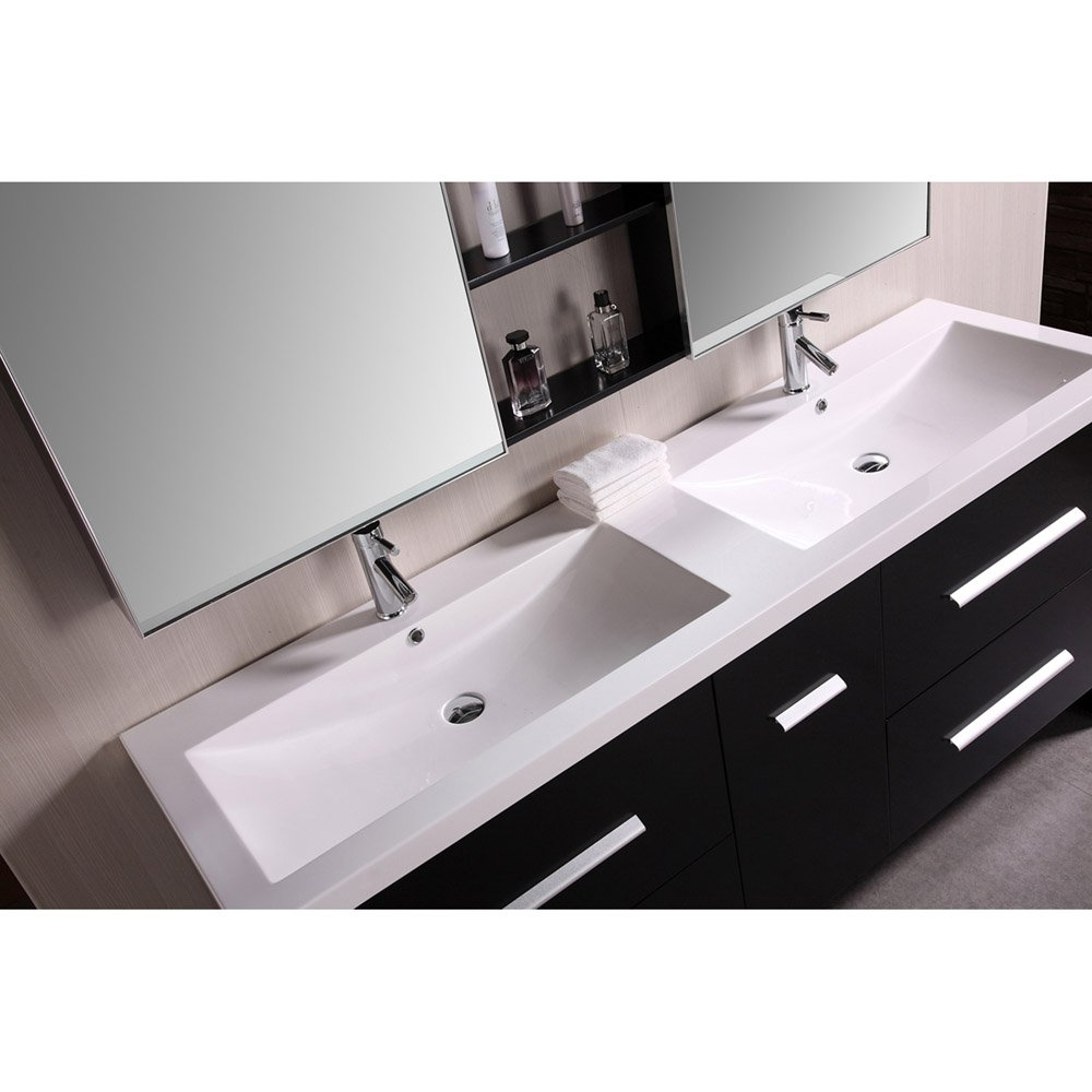 Donovan 72 double sink vanity set zuri furniture - 72 inch single sink bathroom vanity ...